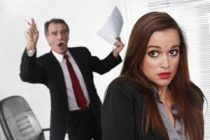Senior manager angry at his secretary