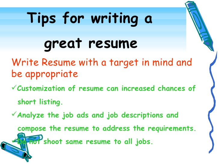 Resume Writing 1  How To Write A Resume For Job