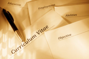The customized CV is based on the information collected